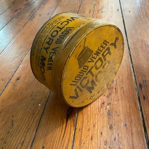 Liquid Veneer Victory Mop- 1920s Vintage Tin